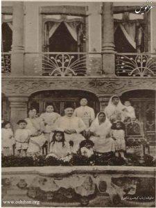 خانواده ارباب کیخسرو با همسر دوم و خانواده اش