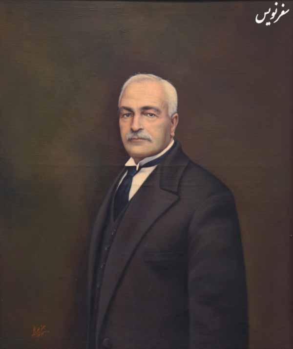 نگاره ارباب کیخسرو شاهرخ اثر جعفر چهره نگار نصب شده در موزه مجلس