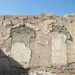 تصویر و عکس دیوارهای گچبری شده عمارت مخروبه خانه و باغ اتحادیه (امین السلطان ، دایی جان ناپلئون)