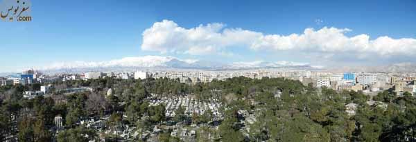 تصویر پانارومای آرامستان ارامنه تهران