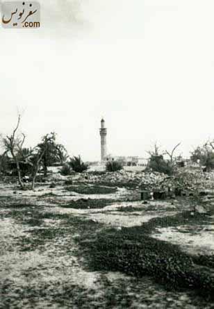 تصویری از جبهه شمالی مسجد ملک بن عباس در سال 1350