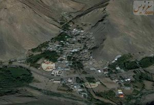 تصویر هوایی روستای تاکر