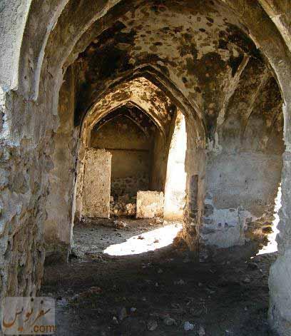 حجره ها و دالانهای کاروانسرای دالکی