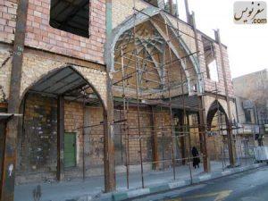 سطح اشغال شده معبر مسجد سلمان در خیابان 17 شهریور