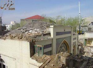 ایوان اصلی مسجد سلمان در حال تخریب