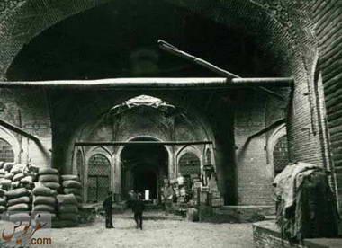 عکس چهارسوق کاروانسرای سعدالسلطنه در سال 1316