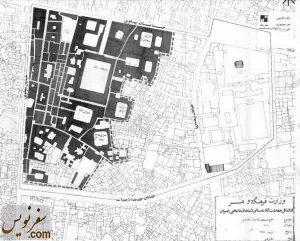 نقشه و پلان مجموعه بازار قزوین در سال 1353