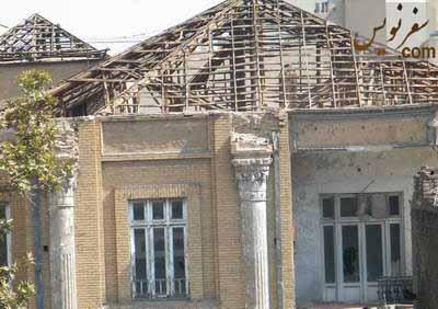 خانه عامری ها (انجمن فرهنگی ایران و انگلیس) و کاشی ها و سرستون های غارت شده