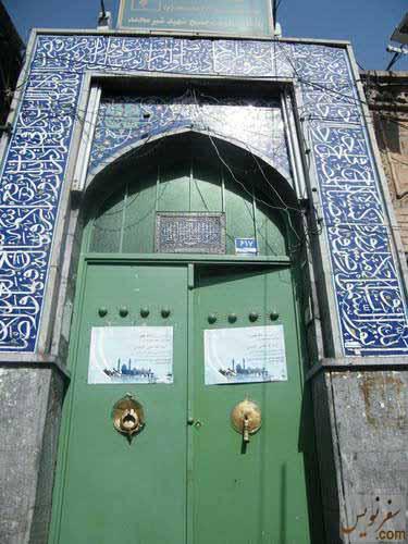 درب ورودی مسجد شیخ عبدالنبی نوری