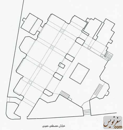 پلان و نقشه مسجد شیخ عبدالنبی نوری