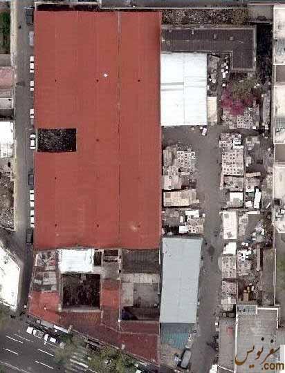 عکس هوایی مدرسه نورصداقت (انبار عاج) 20 روز قبل از آتش سوزی
