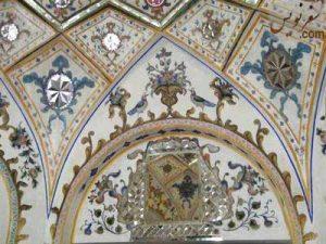 تزئینات دیوارسقاخانه حضرت ابوالفضل (سقاخانه ارباب میرزا)