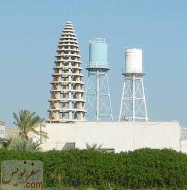 گنبد موزه آبادان و منبع های آب در کنار آن