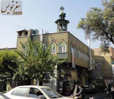 نمای مسجد حاج ابوالفتح و حوزه فتحیه از ضلع شمال شرقی