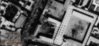 تصویر هوایی مسجد حاج ابوالفتح و کاروانسرای موقوفه آن در سال 1335