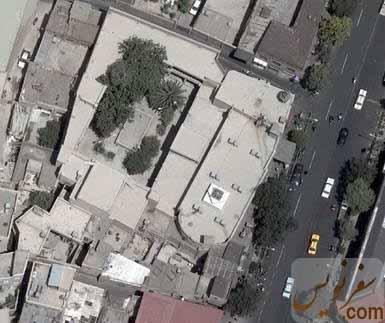 عکس هوایی مسجد حاج ابوالفتح و حوزه فتحیه