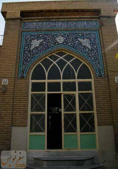 درب ورودی شبستان شرقی از صحن حوزه علمیه فتحیه