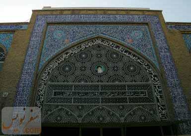 طاق نمای شبستان جنوبی مسجد حاج ابوالفتح