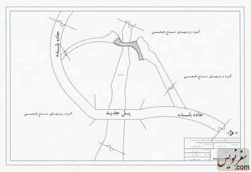 نقشه ریکا پل و موقعیت آن با توجه به جاده جدید