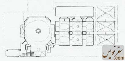 پلان و نقشه حمام گلشن