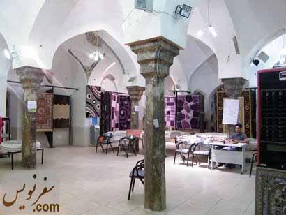 ستونهای قجری زیبای حمام گلشن