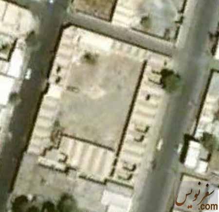 تصویر هوایی کاروانسرای ملک قبل از تخریب
