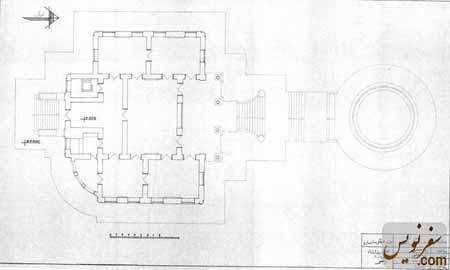 نقشه و پلان کاخ موزه رامسر (کاخ مرمر ، تماشاگه خزر)