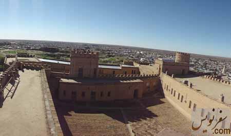 تصویر از بالای برج قلعه شوش (آکروپل)