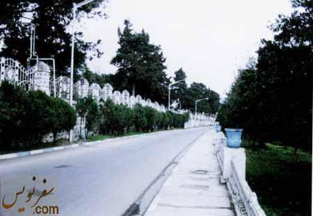 جاده شهید رجایی (جاده هتل یا سخت سر سابق) در اسفند 92