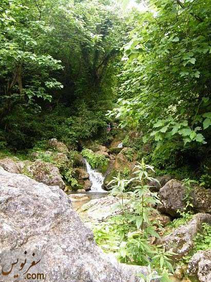 یکی دیگر از حوضچه های زیبای آبشار چلندر