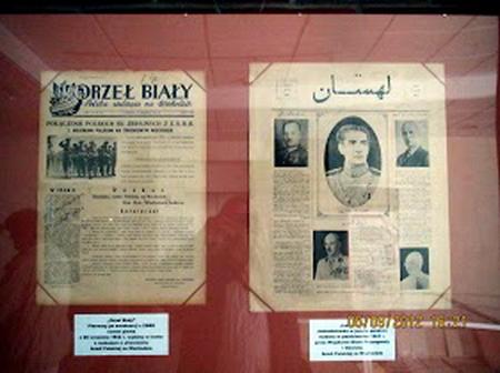 روزنامه لهستانی ها در تهران با تصویر یاز محمدرضا پهلوی