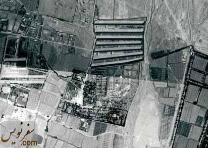 تصویر و عکس هوایی گورستان ارامنه تهران در سال 1335