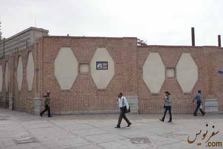 تخریب و نوسازی شمال غربی دیواره قورخانه