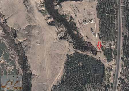 تصویر ماهواره ای آبشار زیرراه