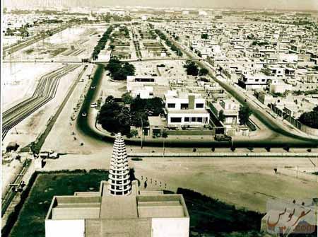 عکس قدیمی هوایی از موزه آبادان و شهر آبادان