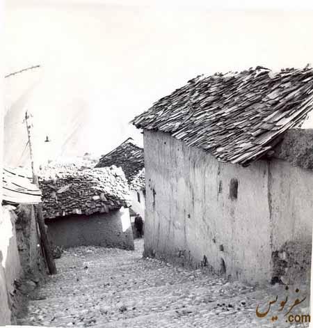 معماری کوچه های قدیمی روستای آلاشت