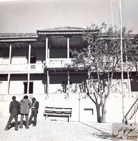تصویری قدیم از زادگاه رضاشاه (موزه مردم شناسی آلاشت)