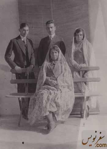 خانواده پیرنیا هما دختر ، داوود و هرمز پسران و شکوه عظمی همسر مشیرالدوله پیرنیا