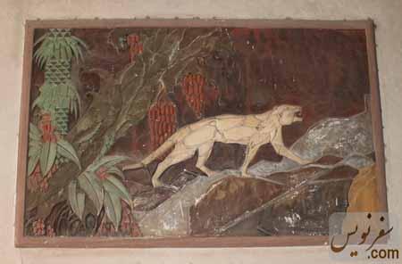 قاب کلاژ باقی مانده در خانه پیرنیا دوم