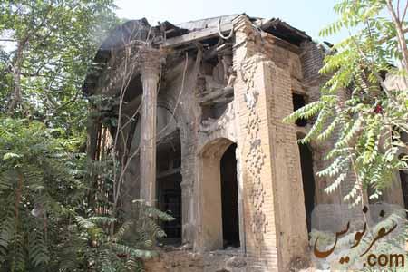 حمام ویژه مجموعه خانه های پیرنیا در حال تخریب