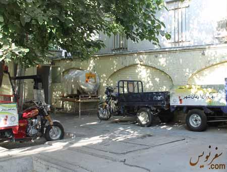 پمپ بنزین دروزاه دولت محل نگهداری ادوات تنظیف شهری
