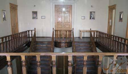 تالار پلکان طبقه دوم خانه مشیرالدوله پیرنیا از نمای شمال