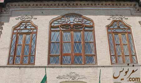 آجر کاری ها و نمای زیبای جنوبی خانه مشیرالدوله پیرنیا