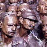 زندانیان دربند، گچ فرنگی، موزه صنعتی 13 آبان