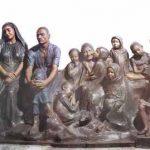 مرد بیکار و عائله اش، گچ فرنگی، موزه صنعتی 13 آبان