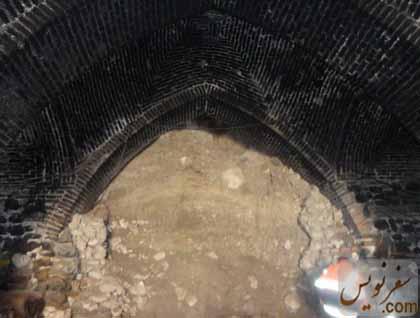 ریزش سقف اتاق های تختگاه کاروانسرای گدوک