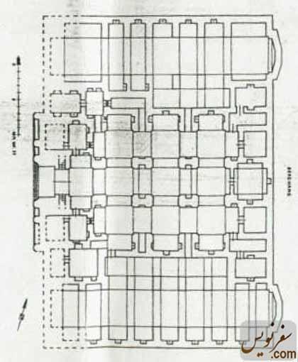 نقشه و پلان کاروانسرای گدوک