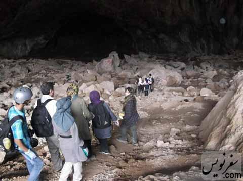 غار نوردی در غار رودافشان