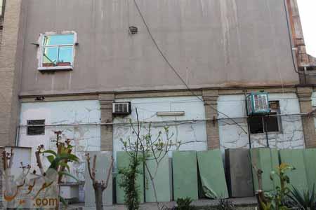 تخریب جداره خانه صادق هدایت