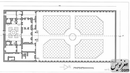 پلان طبقه اول خانه صادق هدایت
